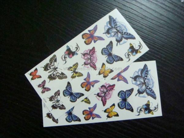 2013 fashion butterfly temporary custom tattoo