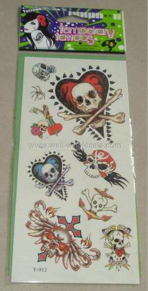 Skull Tattoo Sticker