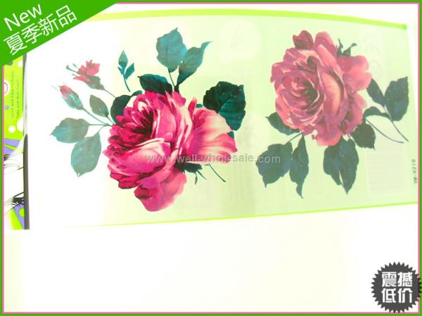 hot sell fashion flower temporary tattoo