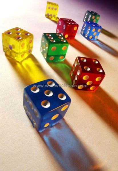 Colorful Acrylic gambling Dice 22mm large dice