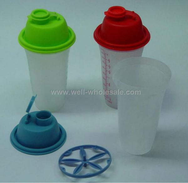 Hot Plastic Cup Protein Shaker Bottle