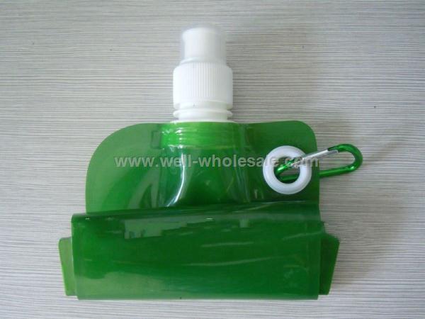 BPA free PET collapsible water bottle