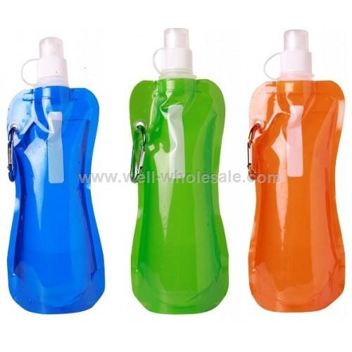 480ml or 16OZ portable foldable plastic water bottle