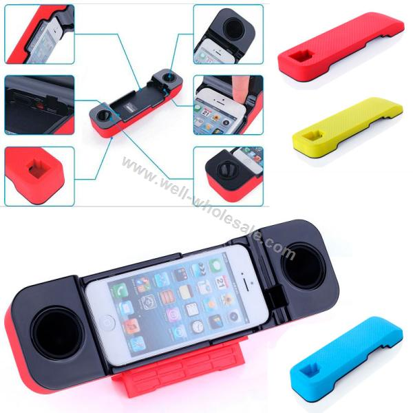 Unplugged horn speaker for iphone 5