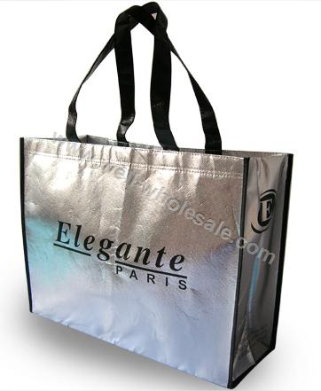 Silver Non Woven Shopping Bag