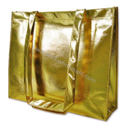 gold shopping bag