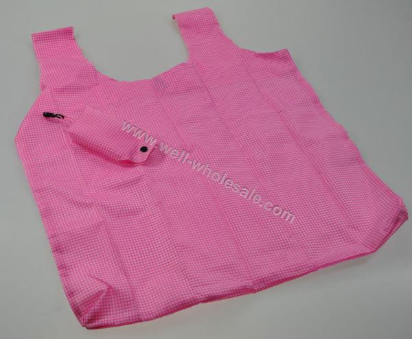 Vest Handle Fold Up Grocery Tote Bag