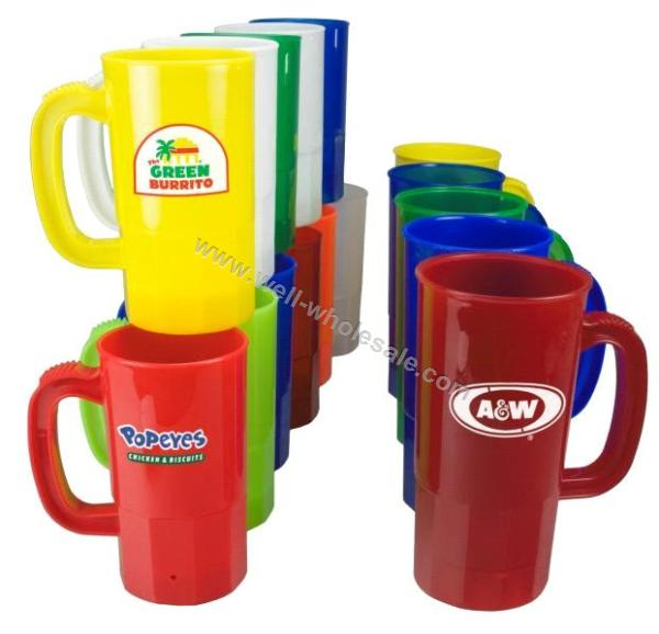 plastic beer mugs