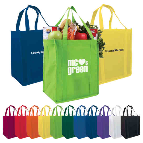 Promotional items with logo Non-woven Grocery Tote shopping bag