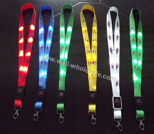OEM LED Flashing Lanyards LED Glowing Lanyards