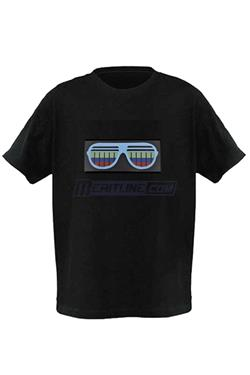 LED Lighting T-Shirt Sunglasses