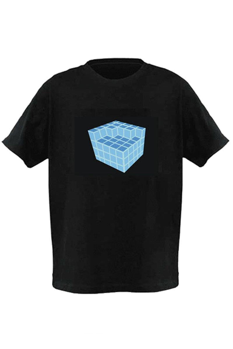 LED T-Shirt Fourth Dimension Rave Cube