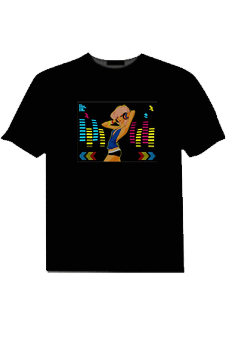 EL t-shirts OEM LED T-Shirt