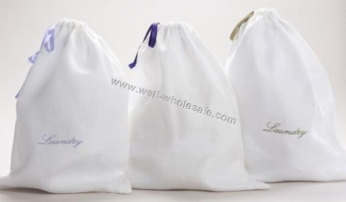 Laundry Bag with Polyester ribbon closure