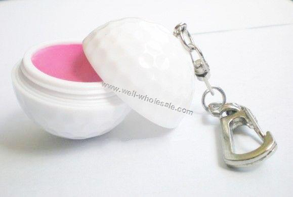 Golf ball lip balm with keychain,Golf Ball Lip Balm
