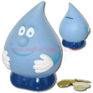 Promotional Water Drop Coin Banks