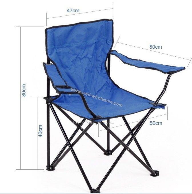 Folding Chair W/Carry Case,Arm Rest&Cup Holder,Captains Chair