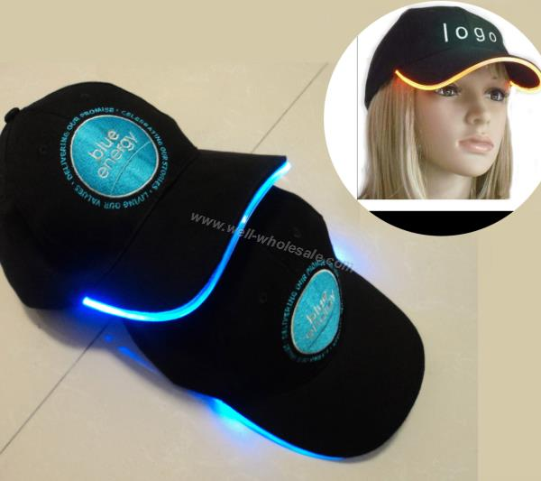 Promotional LED Cap/Flashing Cap with Embroidery/Advertising Light up Cap