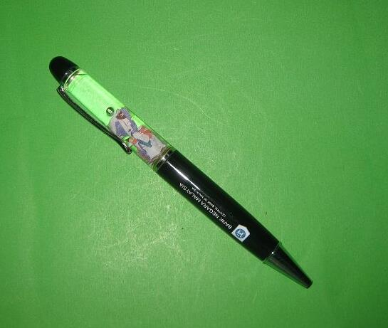 Promotional LED Ballpoint Pen With Liquid Inside