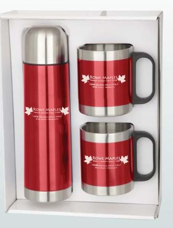 Stainless Steel and Plastic Flask And Cup Travel Set