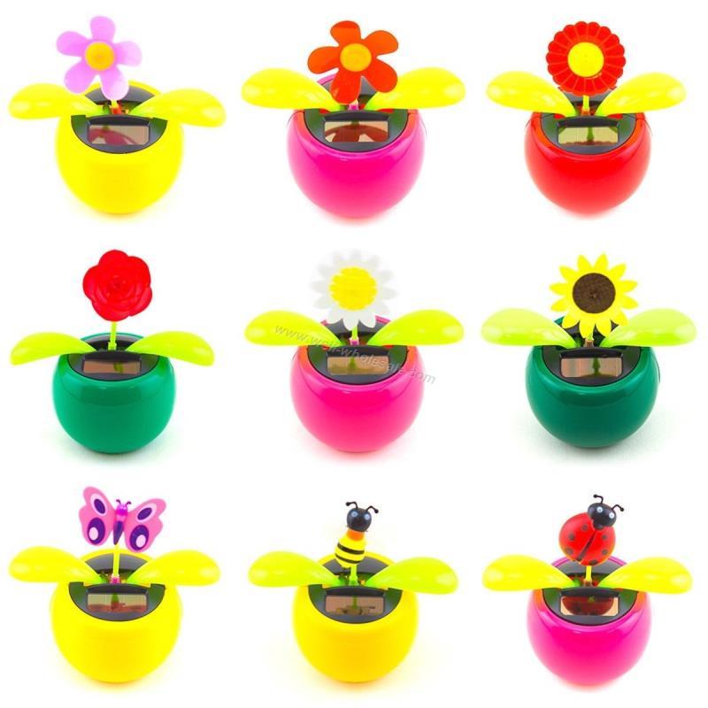 decoration flower,solar energy dancing flower,plastic flower toy