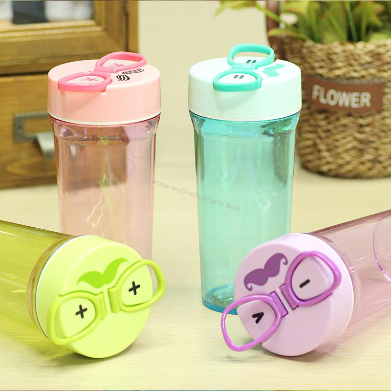 Glasses Shaped Handle Plastic Cup