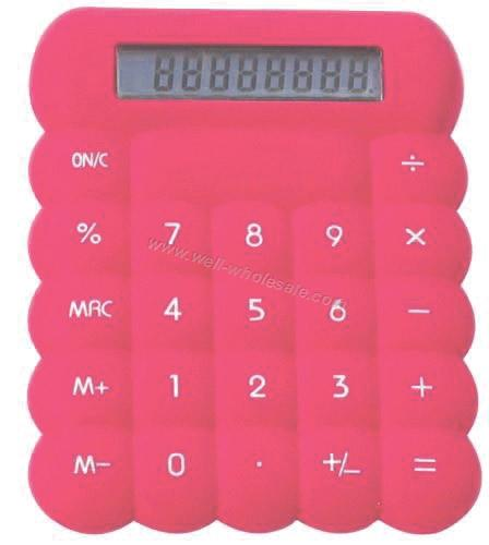 8 digits rubber calculator