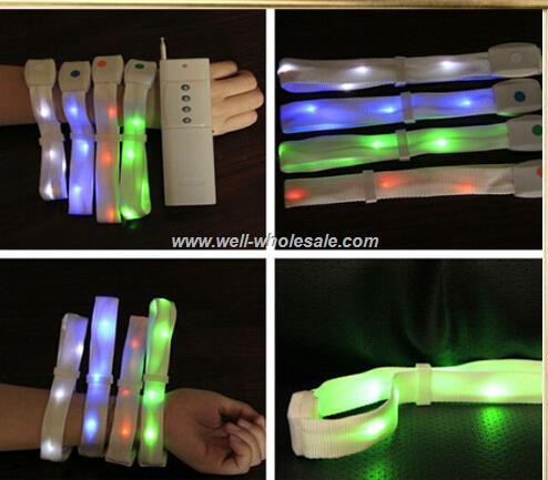 Remote control LED wristband