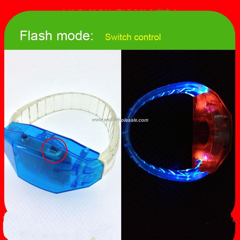 remote control led wristband sound activated led wristband