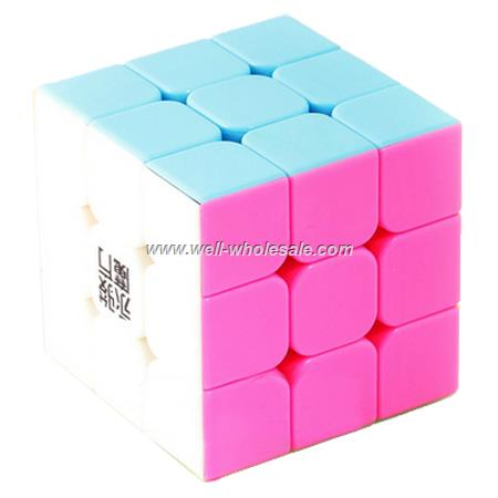 3x3x3 Stickerless Magic Cube Pink Version