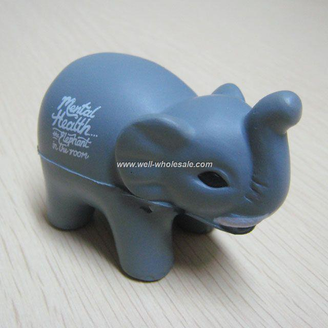 PU toy|Fun elephant pu stress ball