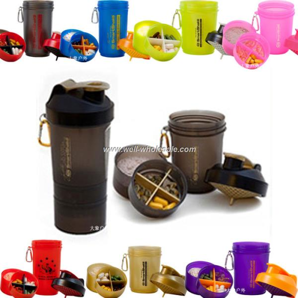 BPA Free plastic Protein powder smart shaker bottles
