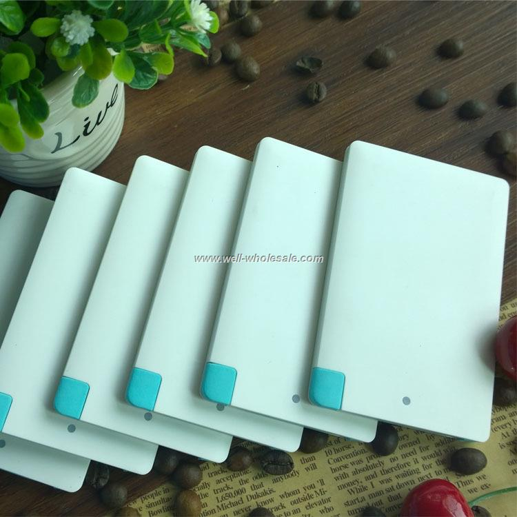 Credit card portable power bank