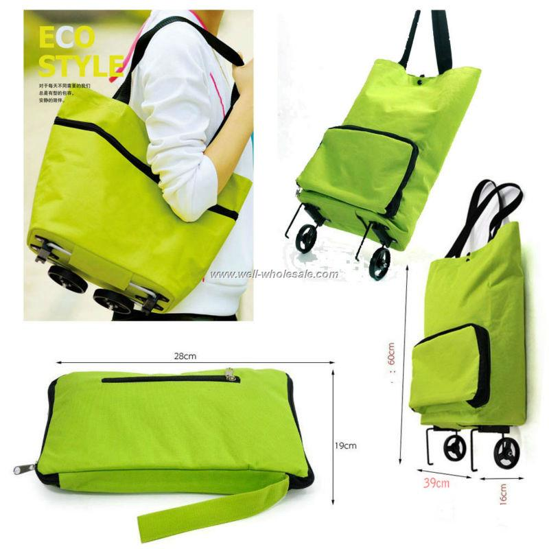 Easy carry foldable shopping trolley bag,ladies trolley tote bag,