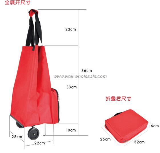 Wholesale foldable shopping trolley bag