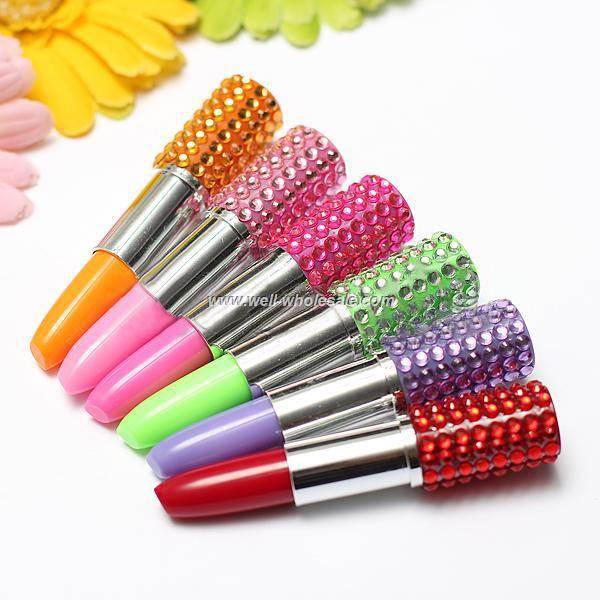 best selling rhinestone lipstick pen,lipstick ballpoint pen