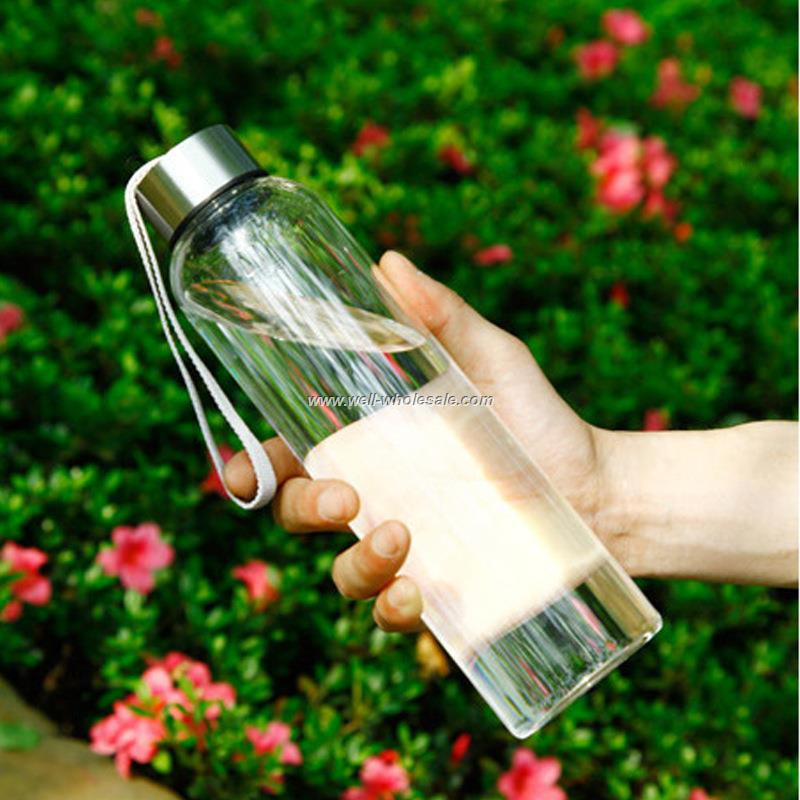 custom borosilicate sports glass water bottle