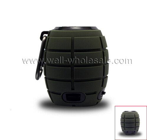 Bluetooth portable grenade speaker with carabiner
