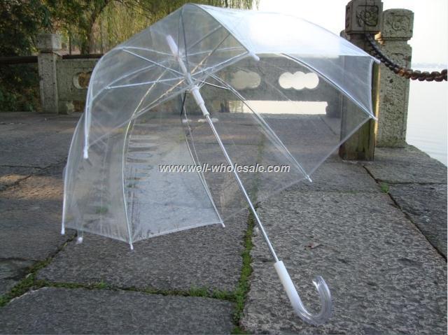 plastic transparent umbrella