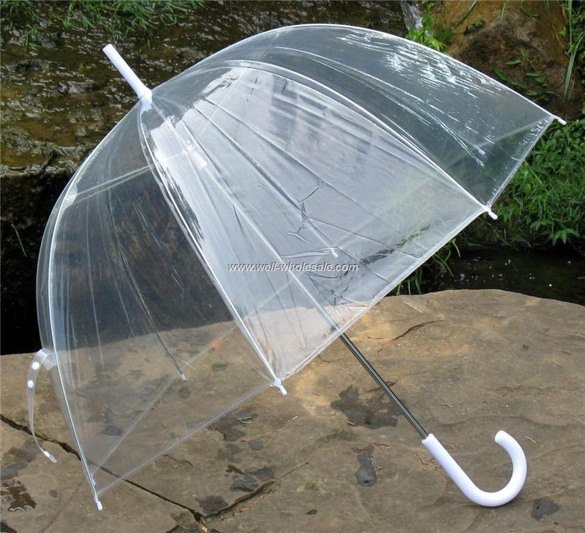 Color transparent umbrella/umbrella plastic transparent