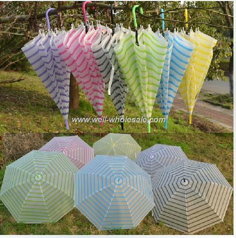 fashion transparent plastic umbrella for children