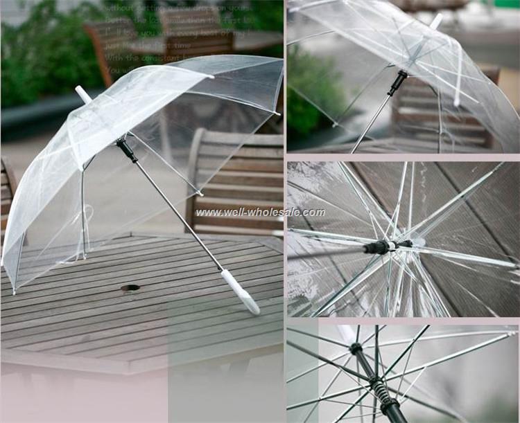 Fashion safe transparent plastic umbrella