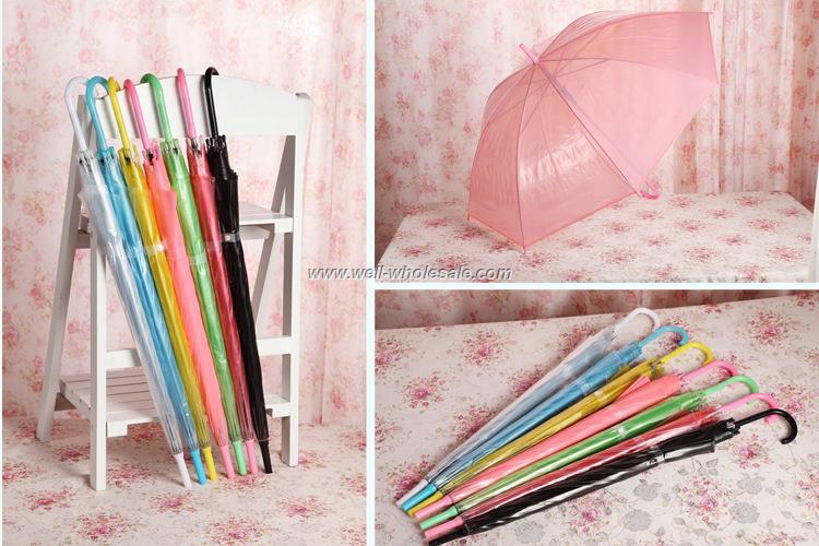 Plastic Material transparent umbrella