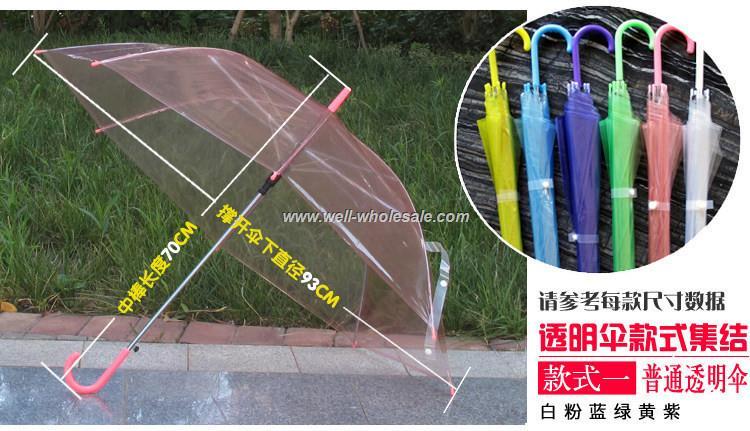 OEM transparent umbrella