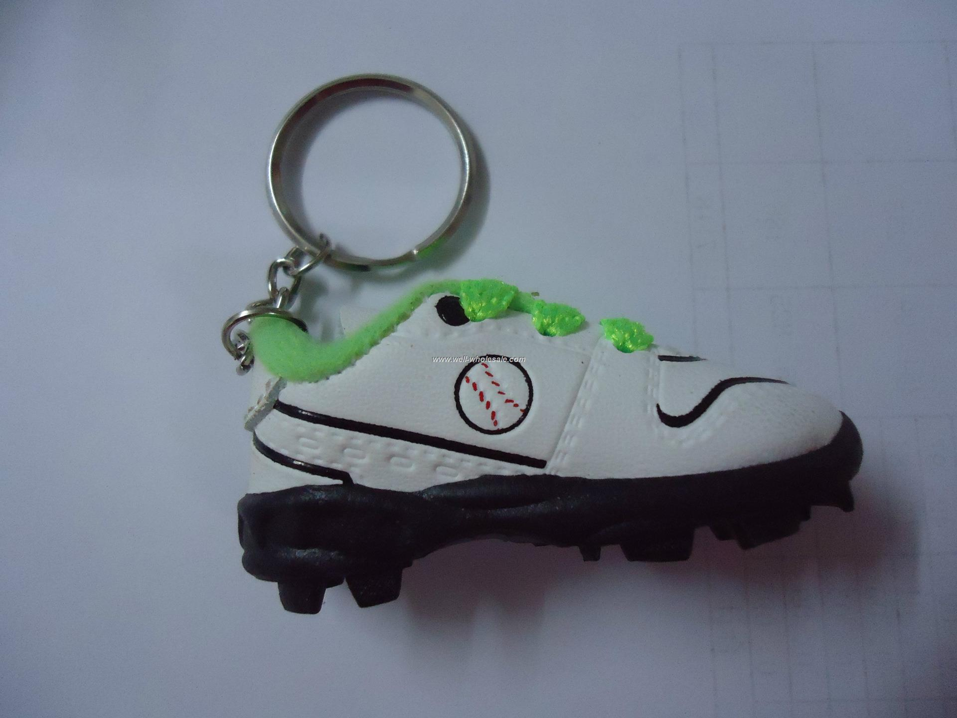 PVC football shoe key chain