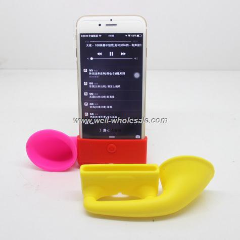 for iphone 6 silicone speaker/for iphone 6 silicone amplifier