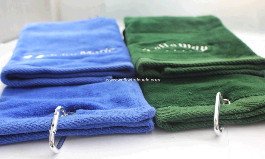 Cotton terry jacquard towel, sport towel, golf towel with logo