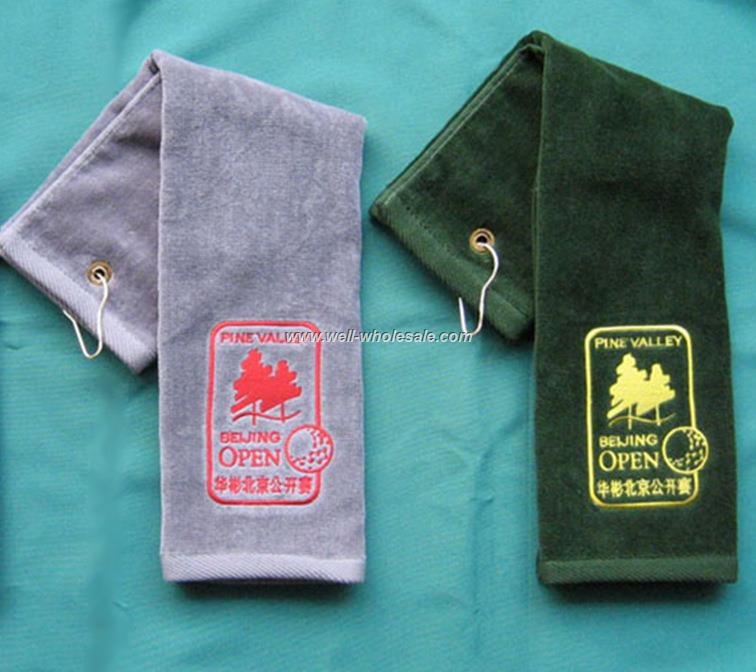 golf event promotional gift towel