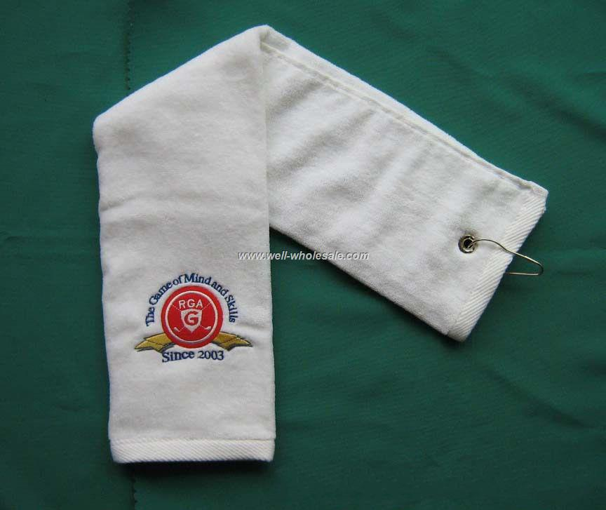 Cotton custom Logo Embroidered Golf Towel