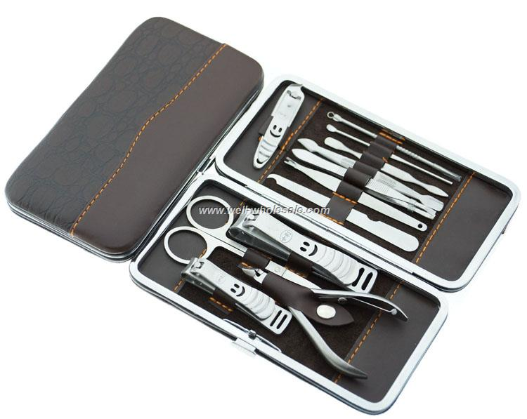 Stainless steel manicure pedicure nail clipper set